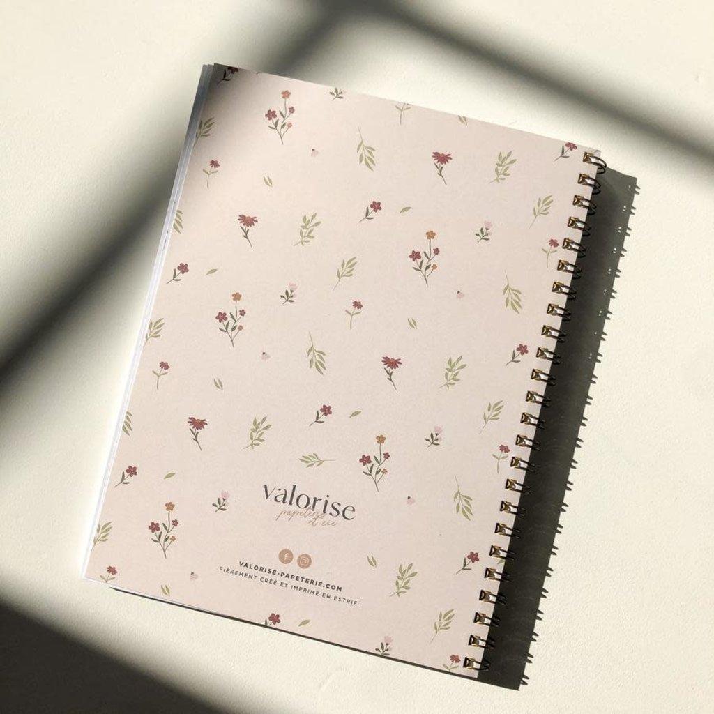 Valorise Cahier de notes - Floral