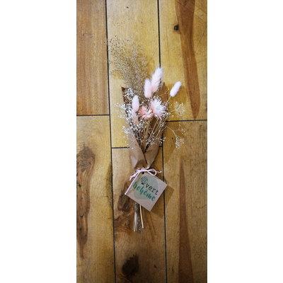 Vert Bohème Bouquet de fleurs séchées - Nuances de roses