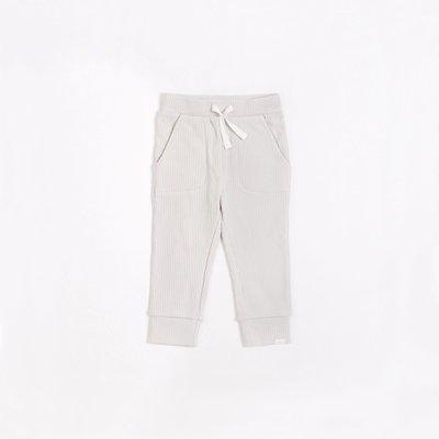 Petit Lem Pantalon tricot gris pâle