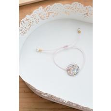 Bracelet de fleurs sauvages - Rose
