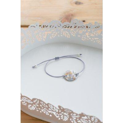 Bracelet de fleurs sauvages - Lilas