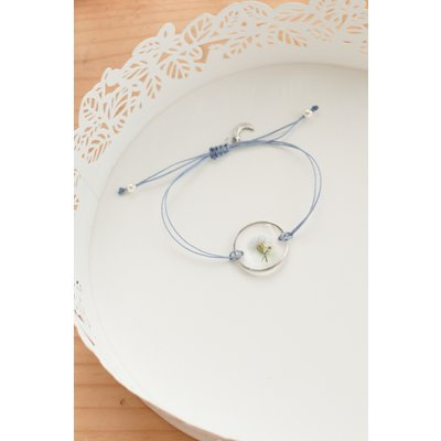 Bracelet d'alyssum et myosotis - Bleu