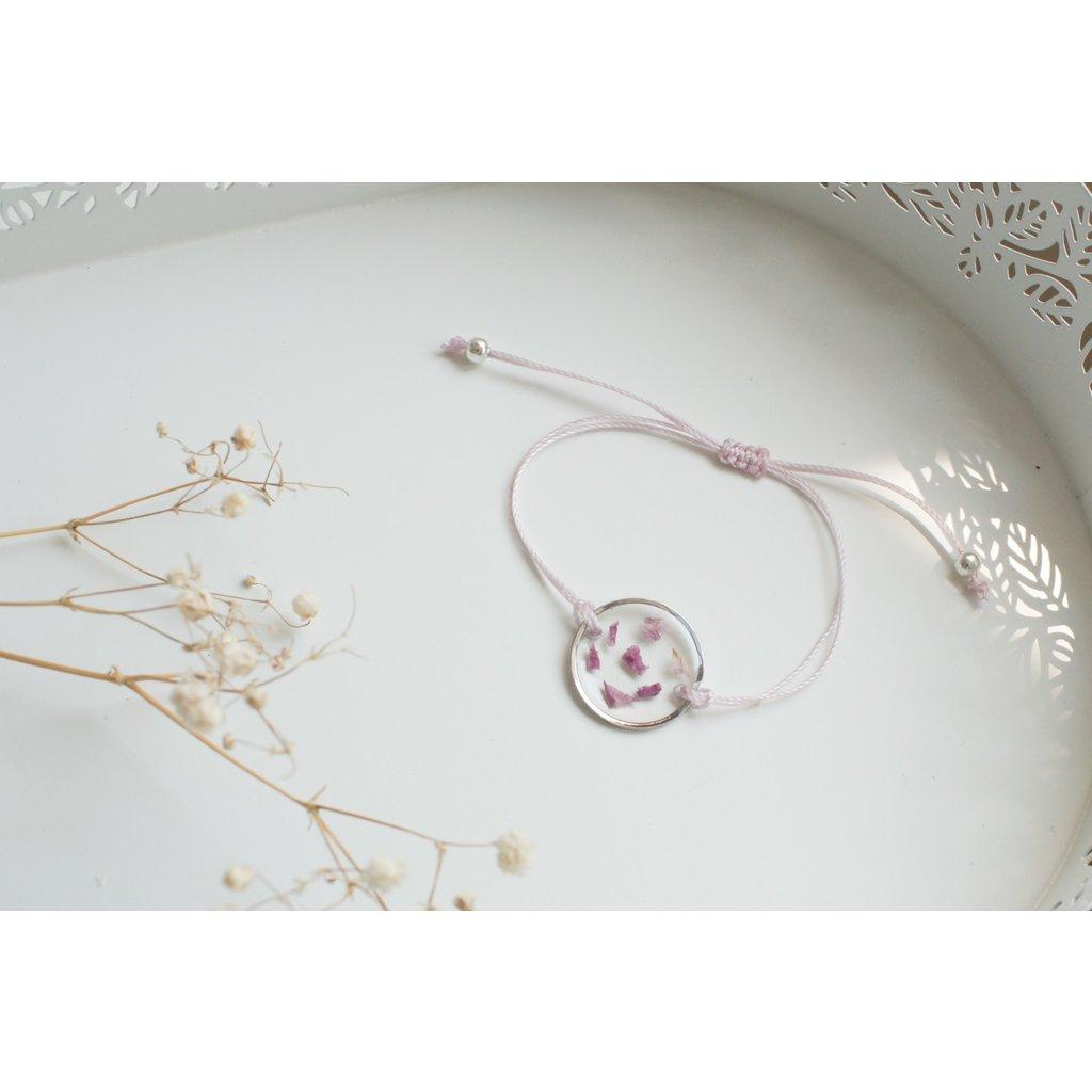 Bracelet de roses sauvages - Rose