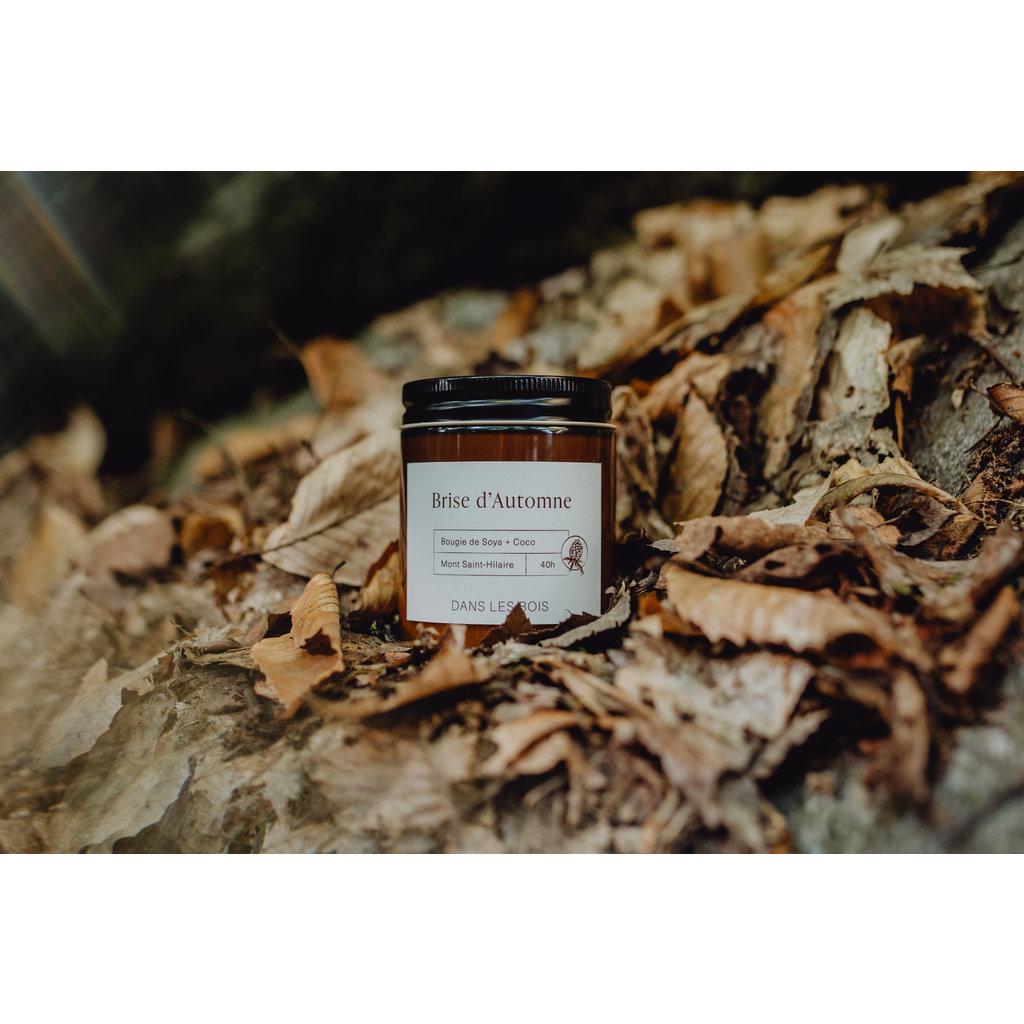 Dans les Bois Bougie avec mèche en bois - Brise d'automne