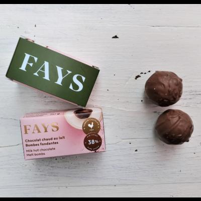 FAYS Terroir Chocolaté Chocolat chaud - Bombes fondantes au lait
