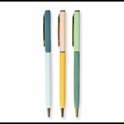 Baltic Club Ensemble de stylos à bille métalliques - Botanica
