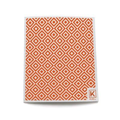 KLIIN Petit essuie-tout réutilisable - Diamant Blanc Orange