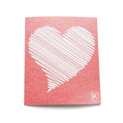 KLIIN Petit essuie-tout réutilisable - Coeur rose