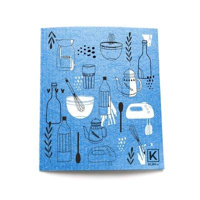 KLIIN Petit essuie-tout réutilisable - Outils de cuisine bleu