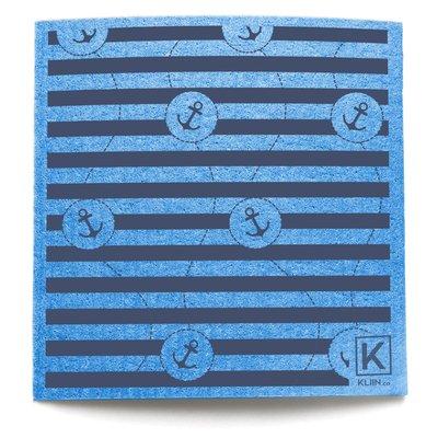 KLIIN Grand essuie-tout réutilisable - Ancre bleu