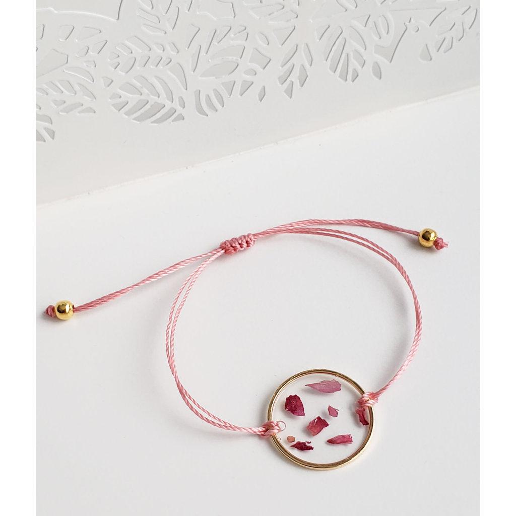 Bracelet de fleurs sauvages (anneau or)