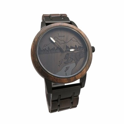 Inua Montre en bois - Le Grizzly (Catch of the day)
