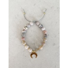 Malalilas Bracelet Bonheur - Opale rose