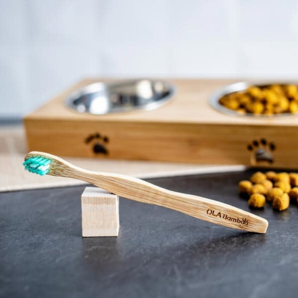 OLA Bamboo Brosse à dent pour animaux