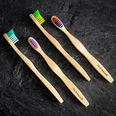 OLA Bamboo Brosse à  dents en bambou pour enfants