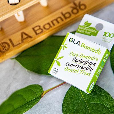 OLA Bamboo Soie dentaire écologique