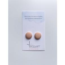 Trésar Boutons d'oreilles (petit) - Beige abricot