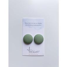 Trésar Boutons d'oreilles (moyen) - Vert tilleul