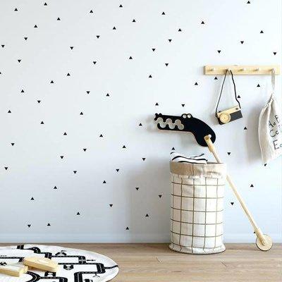 Picotatoo Autocollants muraux - Petits triangles noir