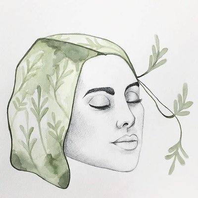 Kim angell illustrations Affiche - Dame nature