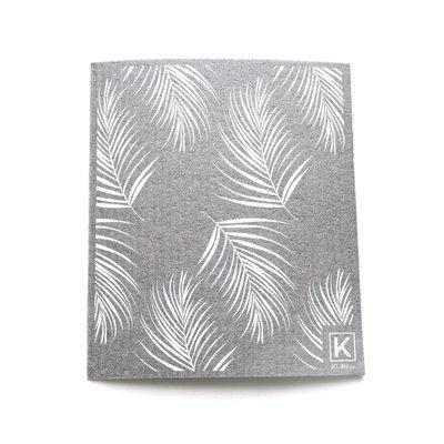 KLIIN Essuie-tout réutilisable - Gris fougères blanches