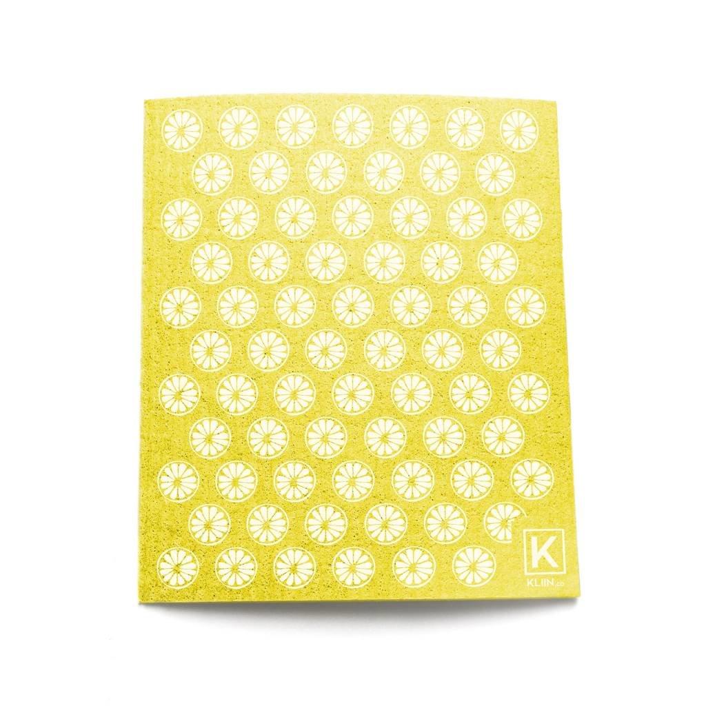 KLIIN Petit essuie-tout réutilisable - Jaune citrons blancs