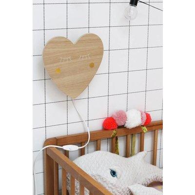 Veilleuse en bois - Coeur