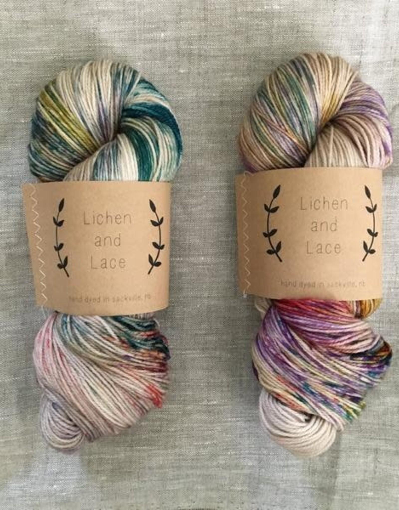 LL 80/20 Sock - Pressed Flowers