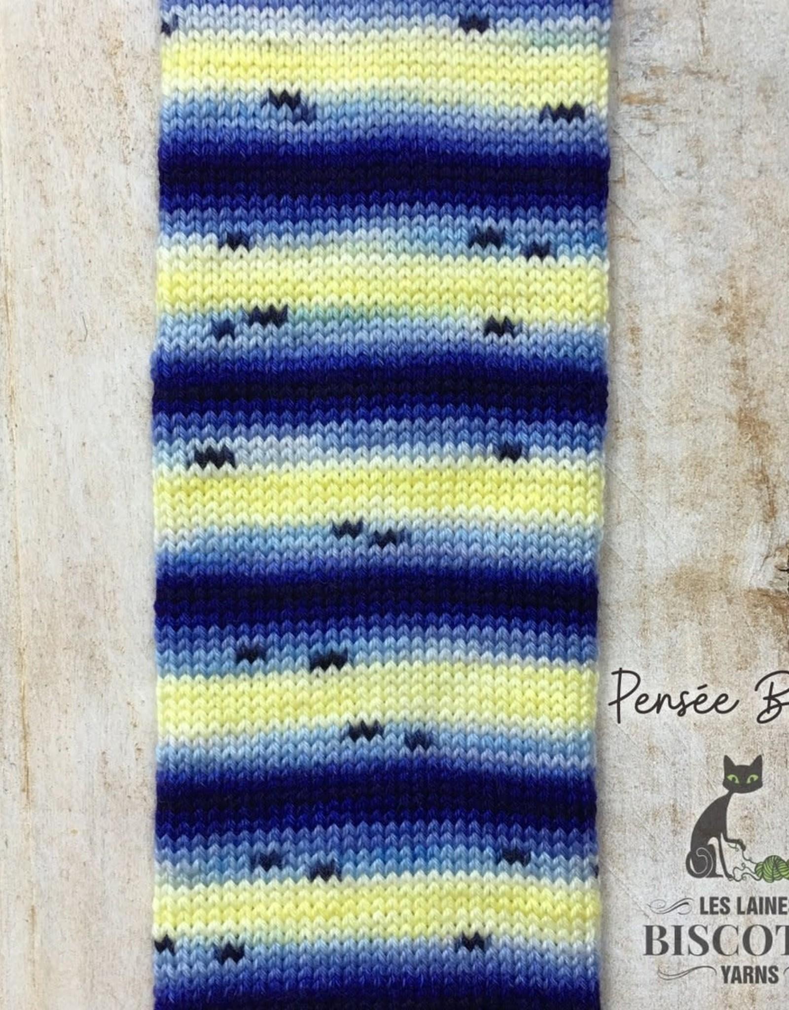 BC Bis-Sock Blue Pansies