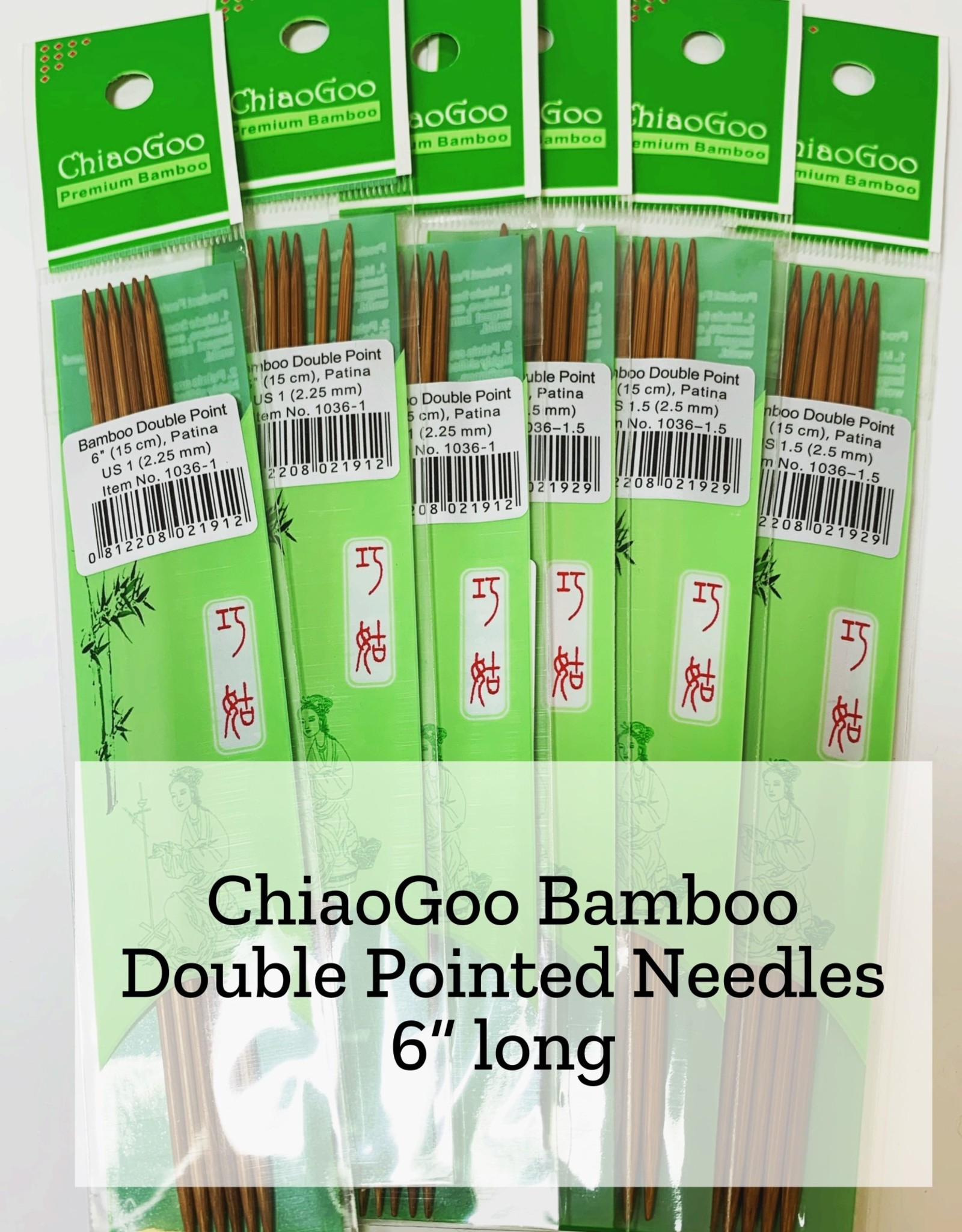 ChiaoGoo Bamboo DPN - 3.5 mm
