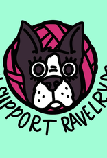 Nerd Bird Makery - I Support Ravely pin