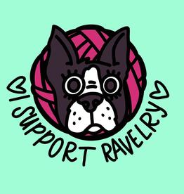 Nerd Bird Makery - I Support Ravely pin