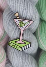 Nerd Bird Makery - Knit Lit pin