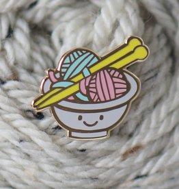 Nerd Bird Makery - Wooly Ramen pin