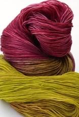 Riverside Studio - 80/20 Sock - Chartreuse and Plum