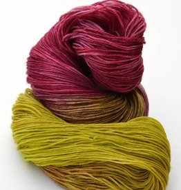 Riverside Studio - 80/20 Sock - Chartreuse and Plum