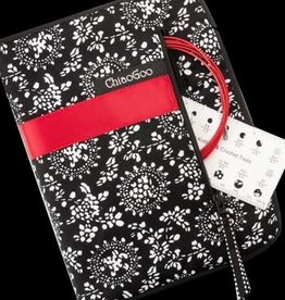 """ChiaoGoo Red Lace Steel 5"""" Interchangeable LARGE Set - 5.5 mm to 10 mm"""