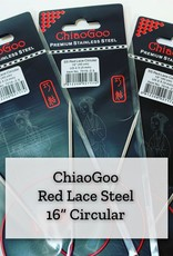 "ChiaoGoo Red Lace Steel - 16"" 2.5 mm"