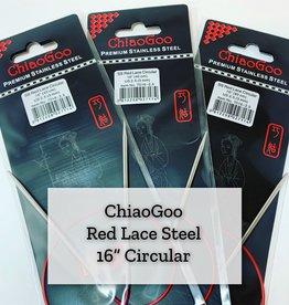 "ChiaoGoo Red Lace Steel - 16"" 4.5 mm"