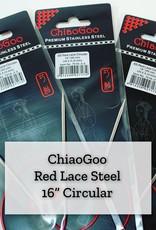 "ChiaoGoo Red Lace Steel - 16"" 5 mm"