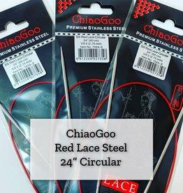 "ChiaoGoo Red Lace Steel - 24"" 2.75 mm"