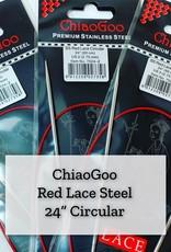 "ChiaoGoo Red Lace Steel - 24"" 6 mm"