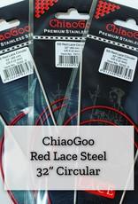 "ChiaoGoo Red Lace Steel - 32"" 2.5 mm"