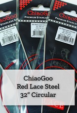 "ChiaoGoo Red Lace Steel - 32"" 4.5 mm"