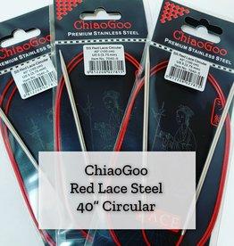 "ChiaoGoo Red Lace Steel - 40"" 3.75 mm"