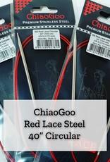 "ChiaoGoo Red Lace Steel - 40"" 3.25 mm"