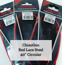 "ChiaoGoo Red Lace Steel - 40"" 4.5 mm"
