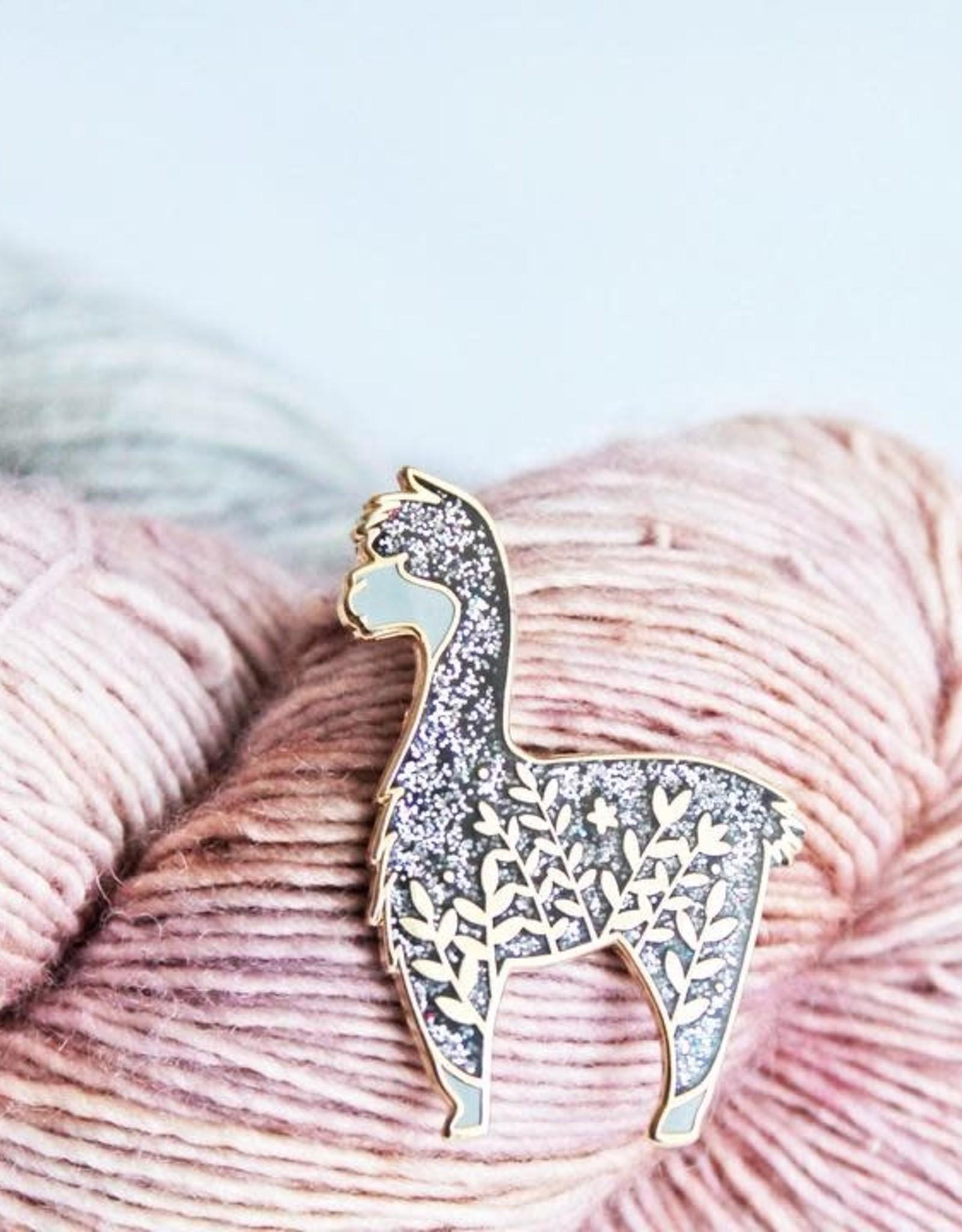 Twill and Print - Little Black Glitter Alpaca