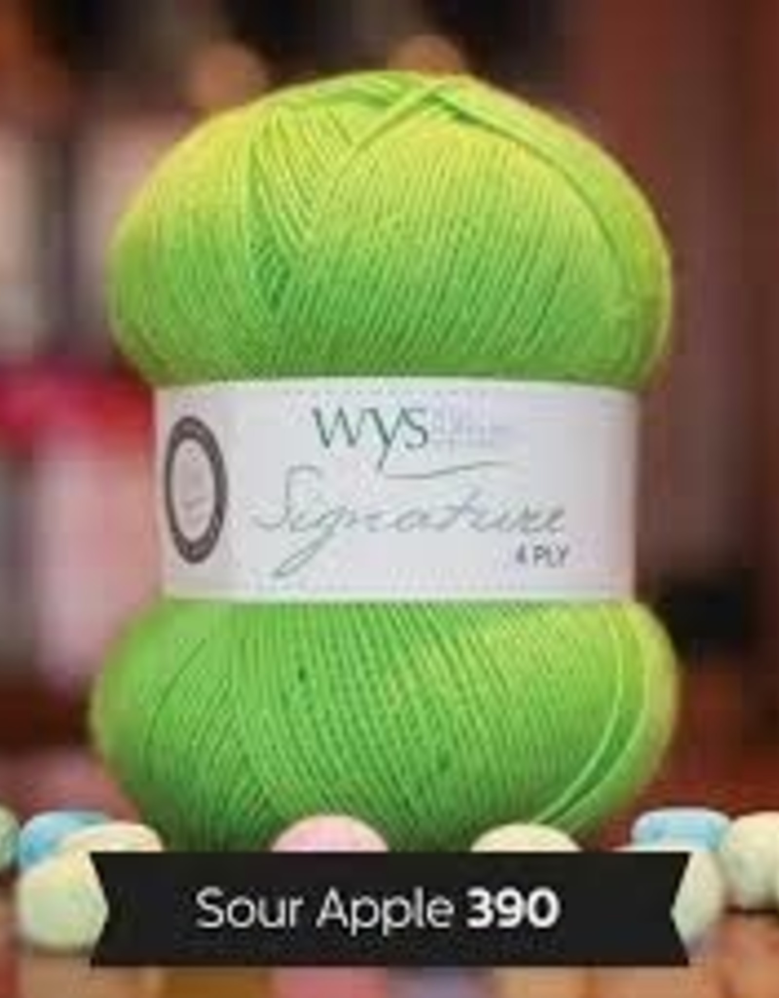 WYS WYS Signature 4 Ply Solids - Sour Apple 390