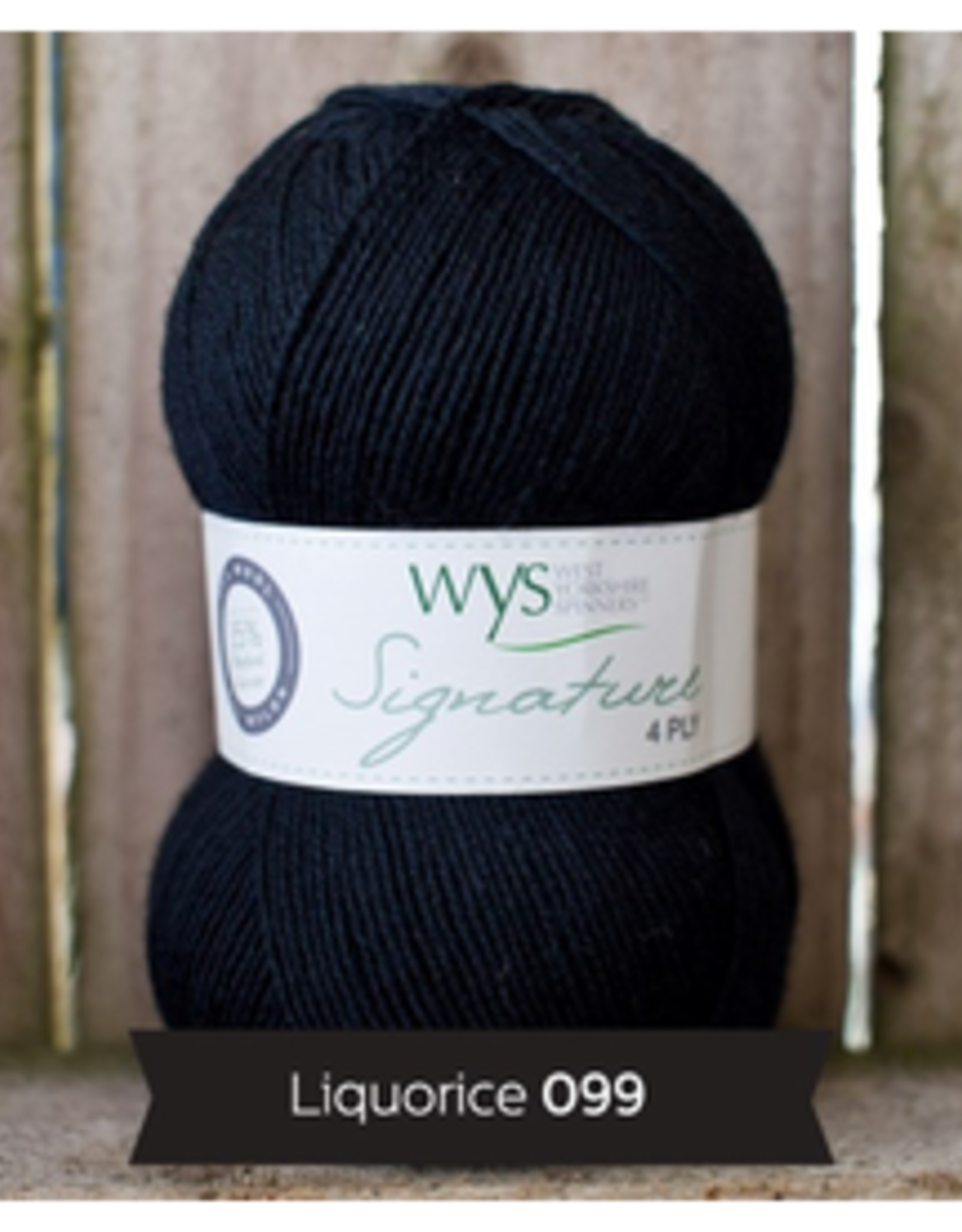 WYS WYS Signature 4 Ply Solids - Licorice 099